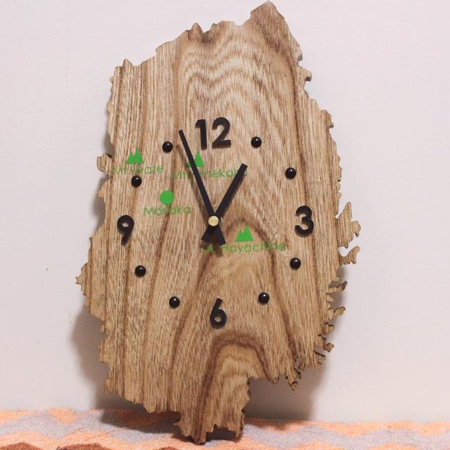岩手県のかたちの時計