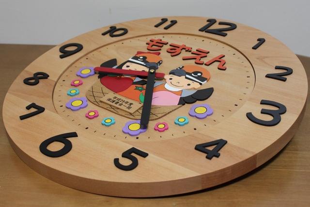 もずの着ぐるみ 新園舎改築祝い・卒園記念時計3
