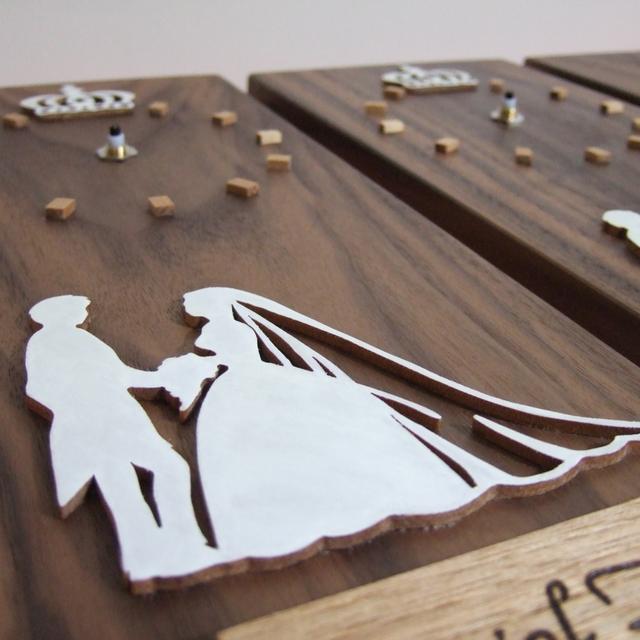 結婚記念のシルエット時計