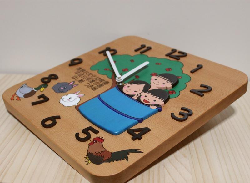 卒園児さんの似顔絵入り記念時計01