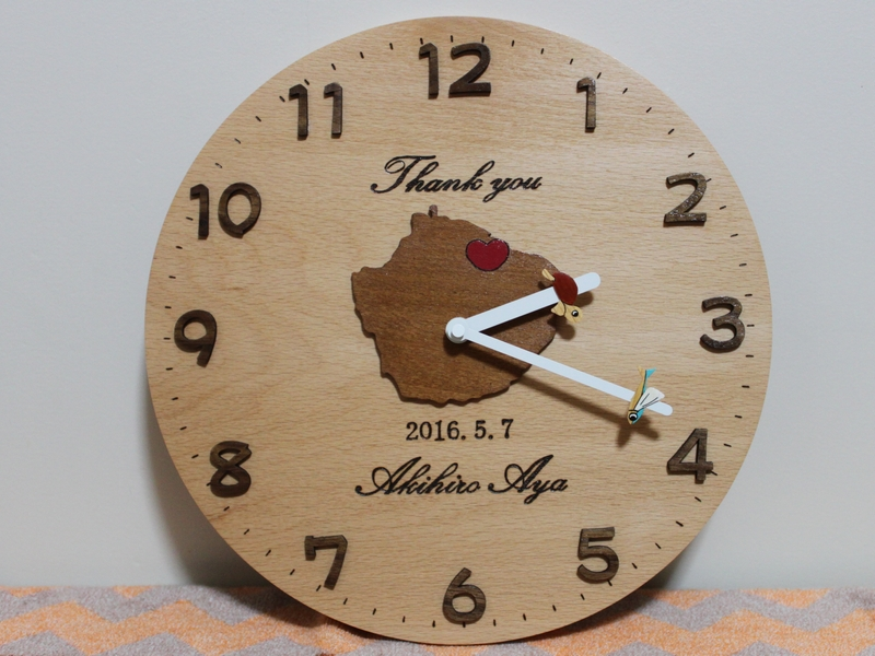 結婚記念の屋久島時計00