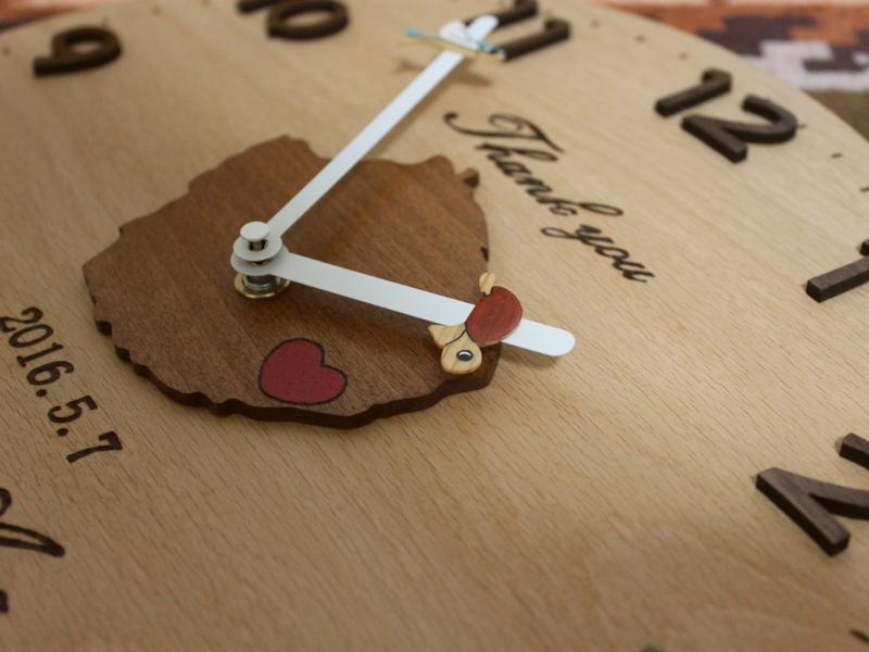 結婚記念の屋久島時計01